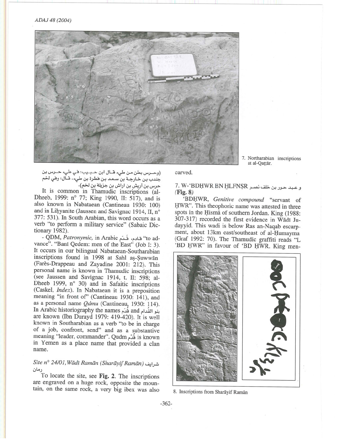 Preliminary Report of the sixth Archaeological and Epigraphical